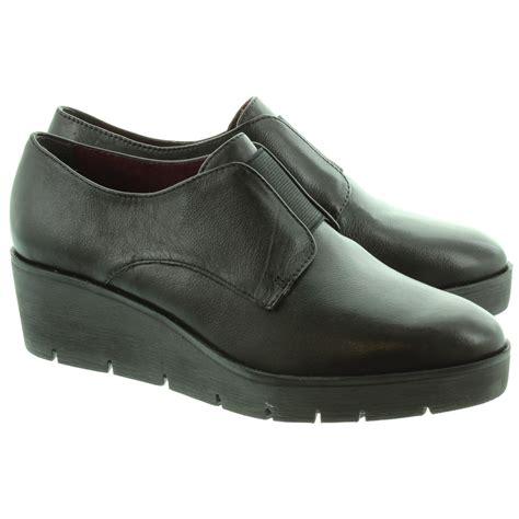 shoes black tamaris 24601 wedge shoes in black in black