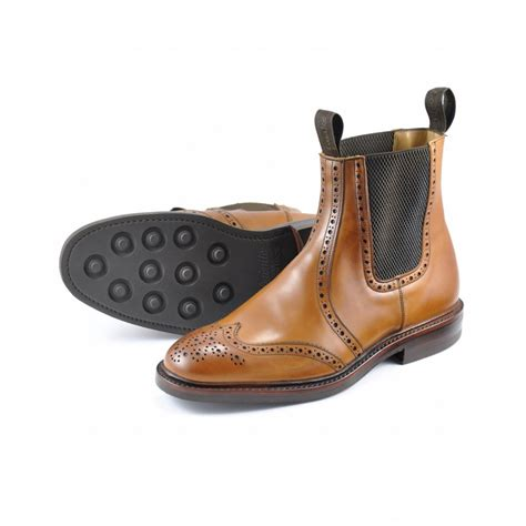 brogue boots sale loake loake thirsk chelsea brogue boot loake from gibbs