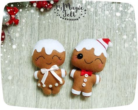 christmas ornaments felt gingerbread man ornaments felt