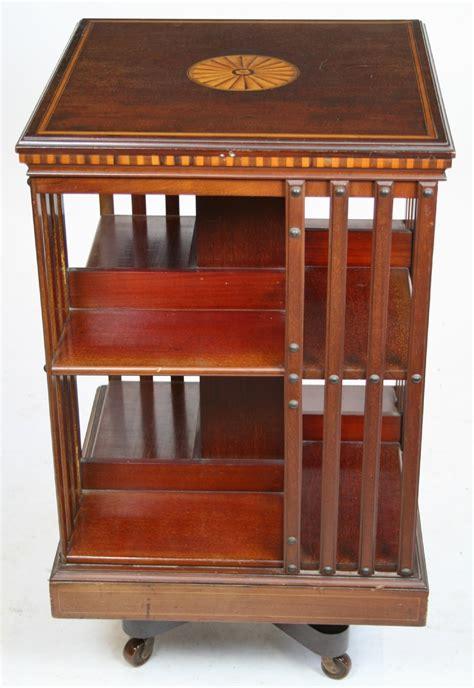 edwardian inlaid mahogany revolving bookcase 253281