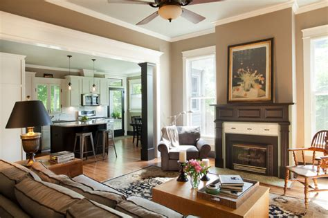 Foursquare Interior Design by American Foursquare Revived Traditional Living Room