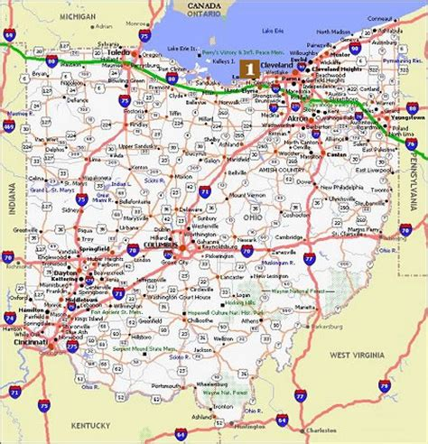 us map of ohio ohio poster dealers travel map