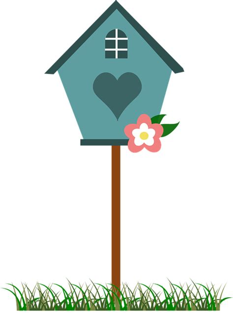 free vector graphic birdhouse bird house blue free
