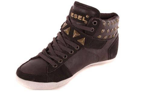 womens diesel sneakers diesel s sneakers high boots shoes brown 52 ebay