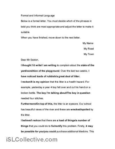 business letters formal and informal 18 best images of parts of business letter worksheet