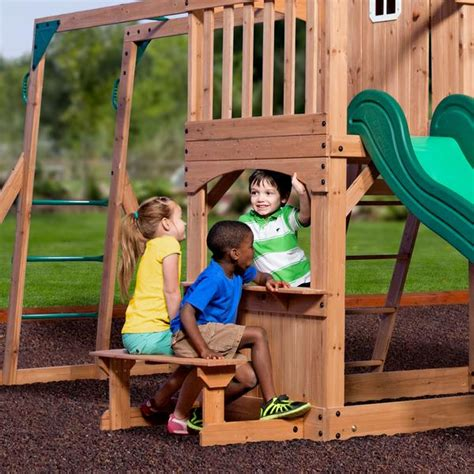 montpelier wooden swing set montpelier wooden swing set playsets backyard discovery