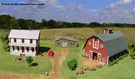 Two Story Barn Plans by N Scale Structure Kits