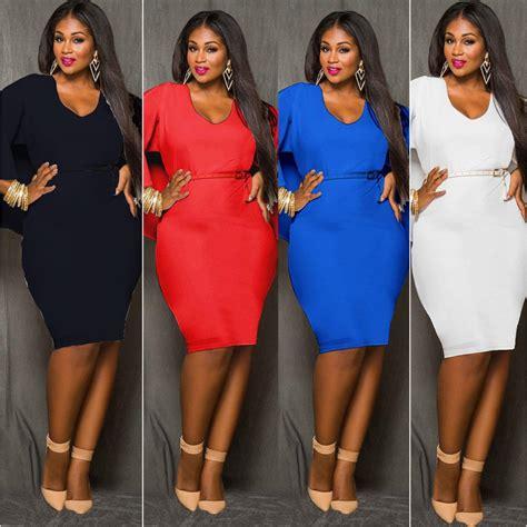 Big Size Blue blue black white plus size cape dress fashion o