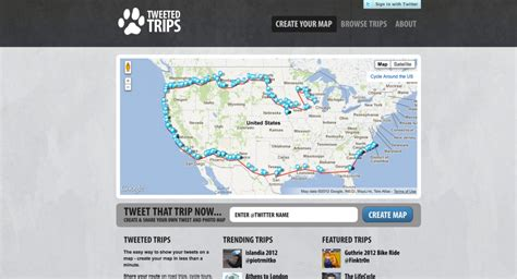 track your trip on a map sandjam 187 tweeted trips your tweets on a map