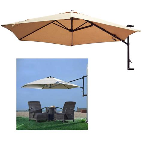 Patio Umbrella Mounts 10 Offset Patio Umbrella Wall Mount Garden Outdoor Sun