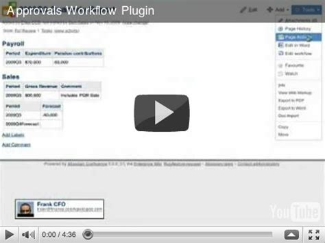 confluence workflow plugin approvals workflow demonstration space confluence