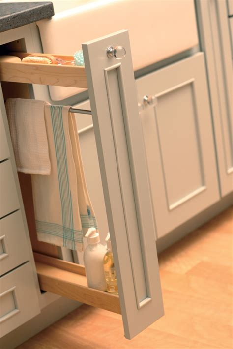 kitchen cabinet pull out storage cardinal kitchens baths storage solutions 101 sink storage