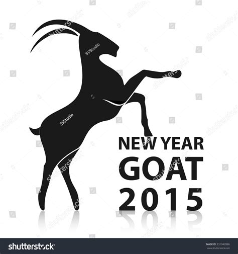 new year 2015 animal goat new year 2015 goat animals stock vector 231942886