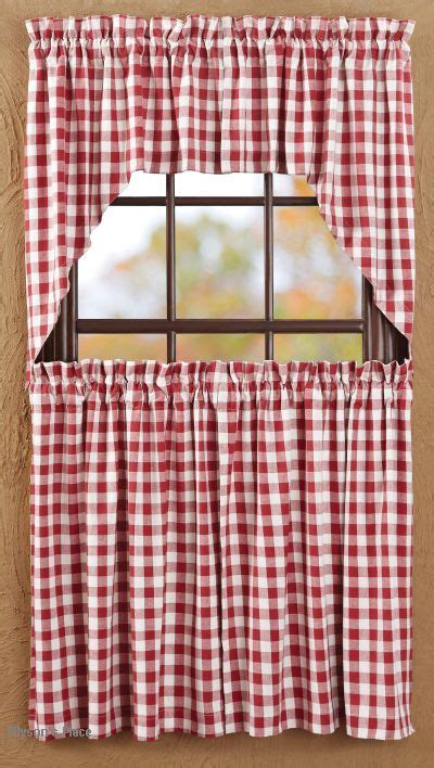 red swag kitchen curtains buffalo check valence curtains buffalo red check curtain