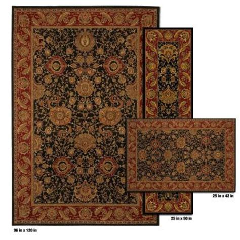 mohawk rugs discontinued mohawk home villetta jet black 8 ft x 10 ft 3 rug set discontinued 299545 the home depot
