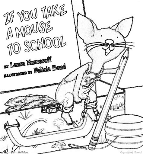 If You Take A Mouse To School Coloring Page if you take a mouse to school coloring pages coloring home