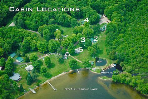 Manistique Lake Cabins by Sleepy Eyed Goose Resort Big Manistique Lake Cabin Rental