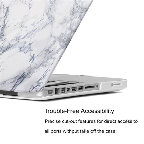 Pro Biasa 15 Marble Macbook Hardcase white marble pattern shell cover for macbook pro