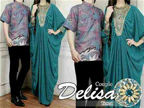 Maxi Delisa kaftan delisa cp243b tosca busana muslim batik