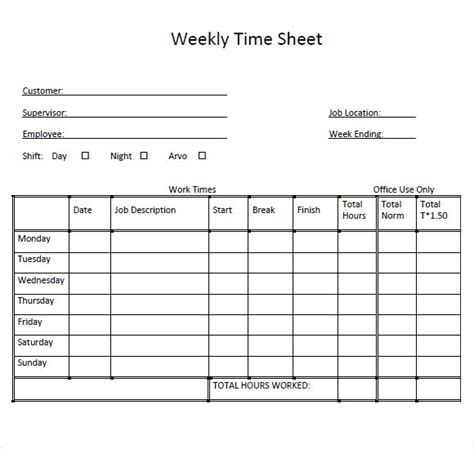 simple weekly timesheet template simple weekly timesheet template invitation template