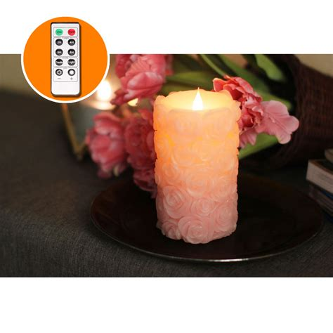Free Led Candles 3 Pcs With Remote White led candles with remote free flowing 3d fireless flameless pillar light