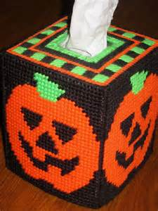 halloween tissue box cover halloween pumpkins tissue box my plastic canvas projects
