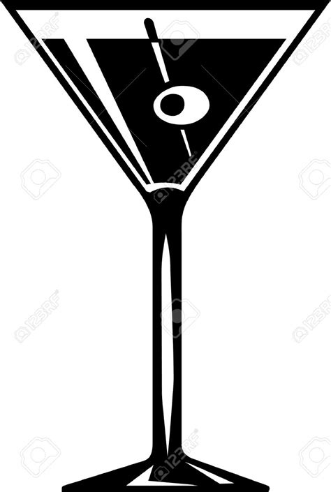 Martini Glass Vector Free Pixshark Com