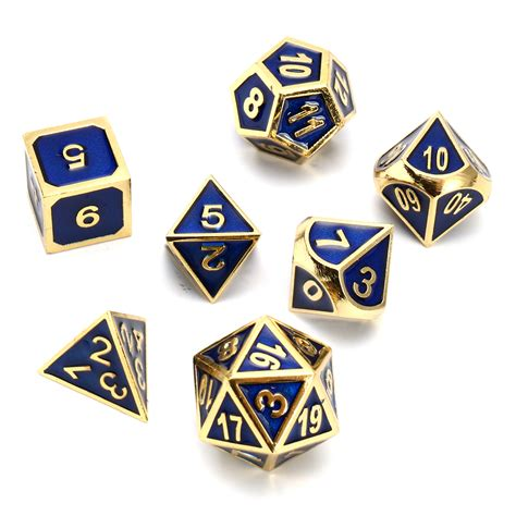 color dice antique color solid metal heavy dice set polyhedral dice