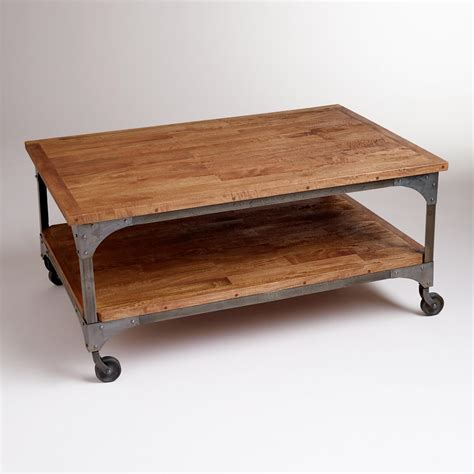 Table For Ottoman Coffee Table Industrial Wood Coffee Table Home Interior