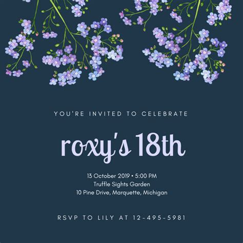 18th Birthday Invitation Templates Canva 18th Birthday Invitation Templates