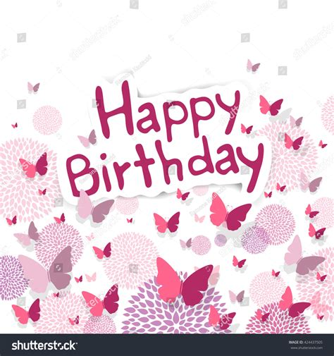 happy birthday design elements vector illustration of a happy birthday greeting card with