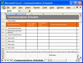 Publicity Strategy Template by Communication Plan Templates Ms Word And Excel