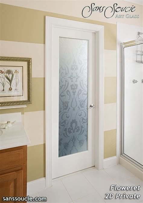 floweret  private interior etched glass doors glass