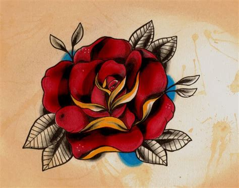 classic rose tattoos new school buscar con ideas