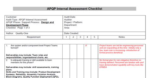 home building design checklist apqp support advanced product quality planning support