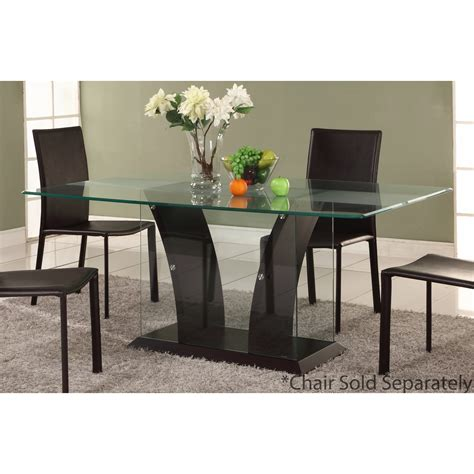 Frosted Glass Dining Table Chintaly Imports Flair Partially Frosted Glass Dining Table The Simple Stores