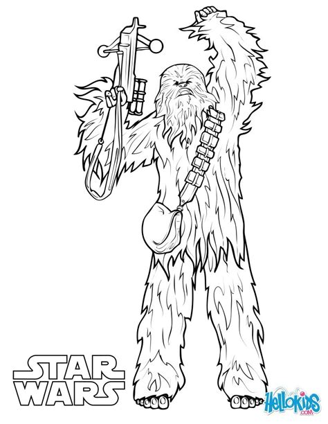 chewbacca coloring pages hellokids
