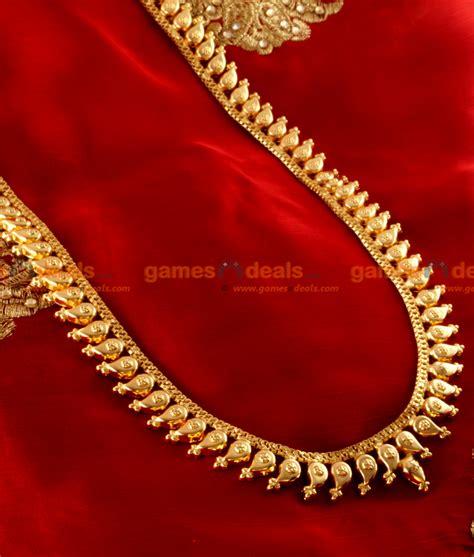 arrg traditional maanga malai haram design gold plated