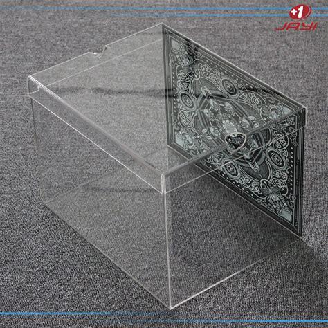 clear sneaker box custom made wholesale lucite plastic clear mini showcase