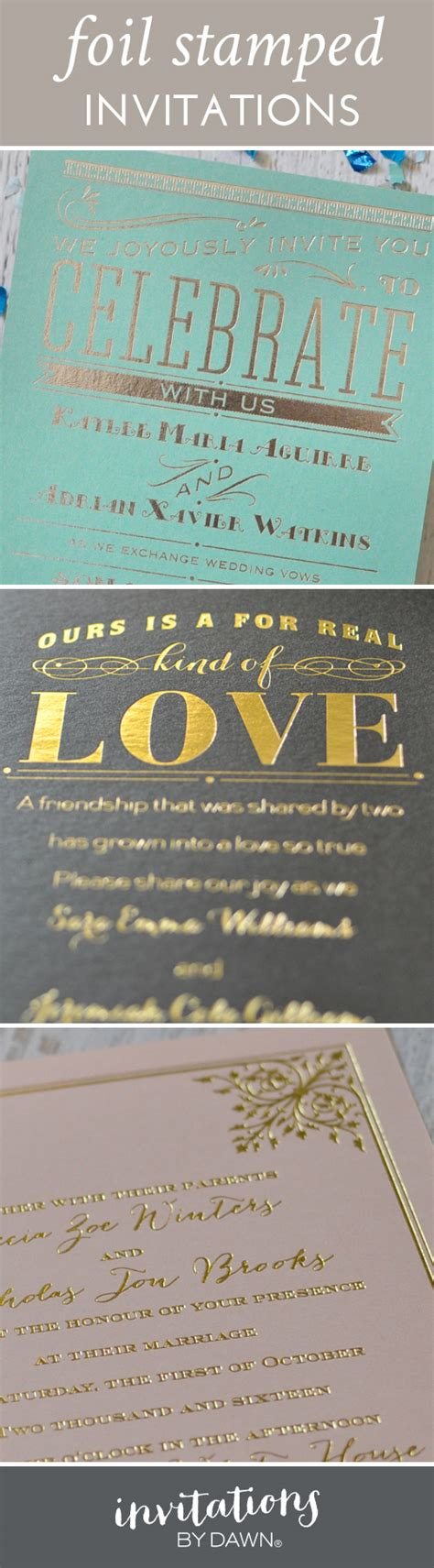 foil sted wedding invites you had me at foil