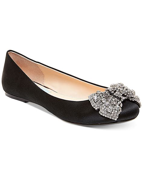 bow shoes flats betsey johnson bow ballet flats in black lyst