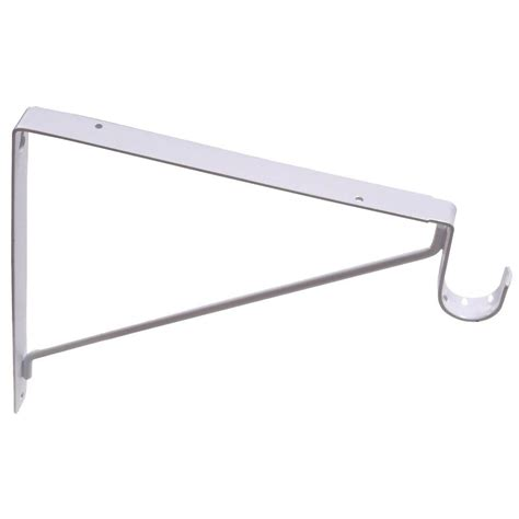 Closet Pole Brackets by Closetmaid Superslide 6 In X 1 In White Closet Rod