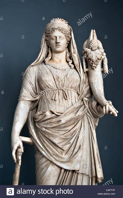 goddess fortuna marble statue of fortuna roman goddess of the fortune and