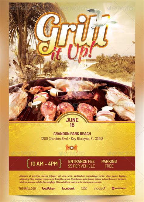 free bbq flyer template best barbecue flyer templates seraphimchris graphic