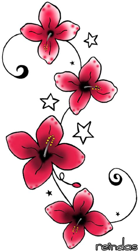 flower tattoo designs for women about lady