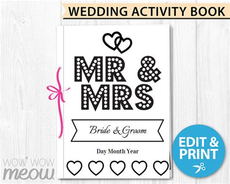 wedding activity book for template wedding coloring book children s activity sheets booklet