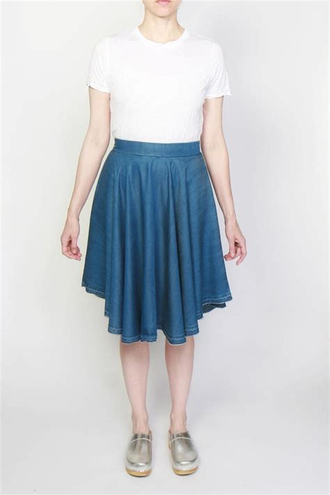 tina jo denim circle skirt from atwater by