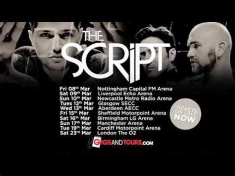 the script uk the script 2013 uk arena tour tv advert youtube