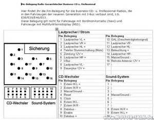 business cd steckerbelegung schaltplan anschlussbelegeung radio bmw 3er e46 205154445