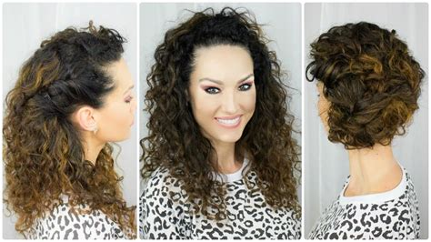 easy curly hairstyles thats manageable 3 quick easy curly hairstyles youtube
